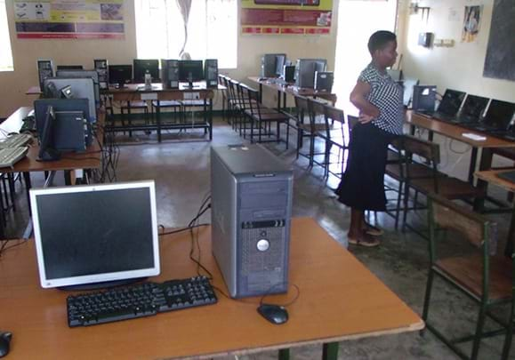 Computer Room donated by DTML to school in Uganda